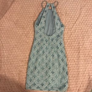 Charlotte Russe Dresses - Tight baby blue lace dress